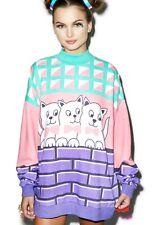 LAZY OAF Kitty Cat SWEATSHIRT Sweater Jumper Dress ONE SIZE