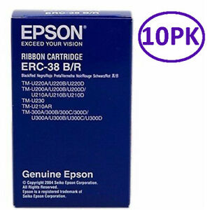 Genuine Epson ERC-38BR Cartridge - TM-U220/U210/U230/U325/U375/210AR (10PK)