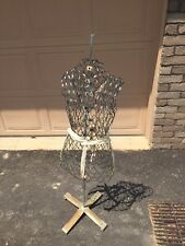 Vintage Black Wire Metal Dress Form Mannequin Snap Closure with Stand Dritz?