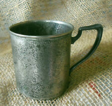 Sheffield Silverplate Hammered Child's Cup Marked DAB