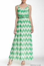 ELIZA J  BELTED CHEVRON PRINT MAXI DRESS sz  2