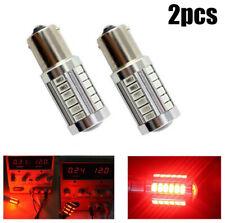 2X Red P21W 1157 BA15S 33 LED Bulb 5730 SMD Super Bright Car Light Auto