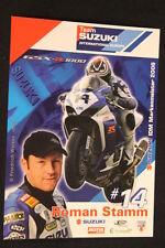 Card Suzuki GSX-R1000 2007 #14 Roman Stamm (SUI) IDM Superbike (HW)