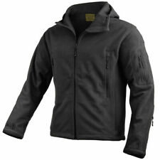 Highlander Mission Fleece Jacket Outdoor Hiking Warm Camping Hooded Mens Black M
