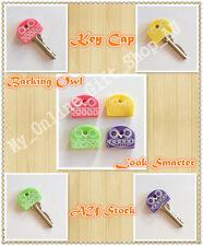 Barking Owl Key Cap Cover Skin Holder 4pcs Green Purple Pink Blue Owls Birds