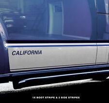 VW Camper Adhesivo Rayas Gráfico T4, T5, T6 Kit de etiqueta de California lado + Trasera SWB