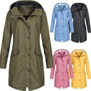 Warm Women Waterproof Raincoat Ladies Outdoor Wind Rain Forest Jacket Coat Rainy