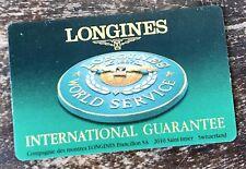 LONGINES BLANK Vintage Guarantee Card Evidenza Conquest Heritage Master Original