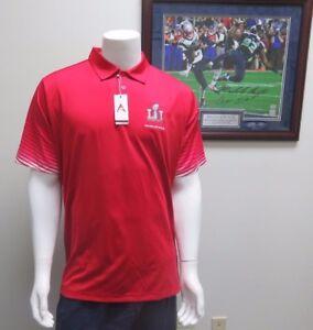NFL New England Patriots Super Bowl LI Series Collared Polo Shirt By Antigua