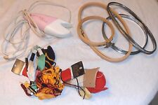 LARGE SEWING SUPPLIES LOT ELECTRIC SCISSORS EMBROIDERY LOOPS NEEDLES +++