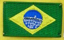 TOPPA MINI PATCH FLAG BRASILE CM 5 x 3 BANDIERA BRASILIANA BRASIL BRASILIAN
