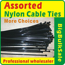 1000 x Assorted Nylon Cable Ties More Choices Free Postage