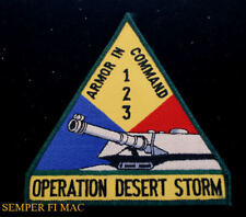 OPERATION DESERT STORM ARMOR 1 2 3 TANK PATCH US ARMY VETERAN PIN UP GIFT WOW