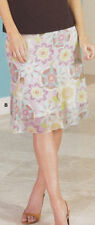 Chiffon Floral A-Line Skirts for Women