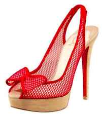 Christian Louboutin 140 Fishnet Bow Slingback 36.5/37 us 6.5
