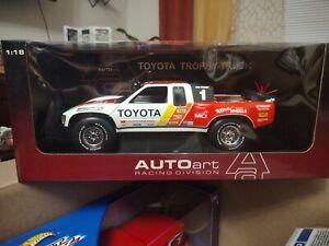 Toyota Trophy Truck Auto Art 1/18 Ivan Stewart #1 Diecast.