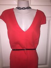 River Island Xmas Red Stretch  Cocktail  Dress 18