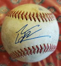 Autographed Baseball Game Used ISAAC PAREDES Detroit Tigers