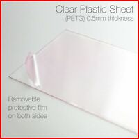Dolls House Window Glazing 0.5mm Thickness Clear Thin Sheet Plastic Acetate