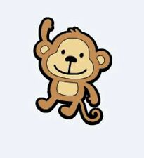 """DIE CUTS Set of 10 Monkeys 8"""" H Party Decorations"""