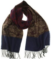 Croft & Barrow Women's Burgundy/Blue Floral Super Soft Acrylic Fringed Scarf