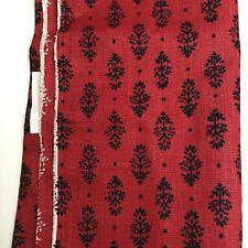 Lisa Fine Textiles Fabric ~ Rajkot Red Indigo Boho Upholstery