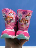 PAW PATROL Rocky SKYE Marshall Pretty in Pink Warm Boots Girls Shoes Sz 8 👣b14