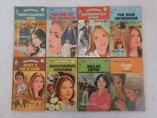 Lot of 8 HARLEQUIN ROMANCE Red Edge 75 & 95 Cents 1970s