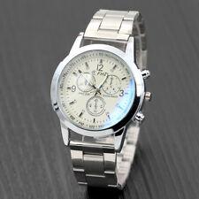 Fashion Analog Mens Watch Hook Buckle Stainless Steel Quartz Wrist Watch Cheap