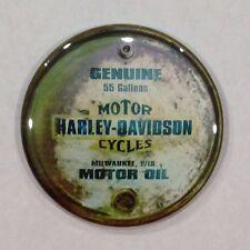 """Harley Davidson Motor Oil Vintage Style Fridge Magnet 2 1/4"""""""