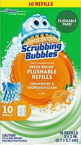 Scrubbing Bubbles Fresh Brush Flushables Refill, Toilet and Toilet Bowl Cleaner,