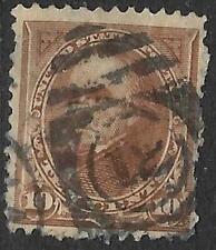 xsa012 Scott 282c US Stamp 1898 10c Webster Used Number 12 Cancel