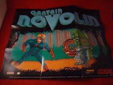 Captain Novolin Super Nintendo SNES Foldable Promo Poster Insert ONLY