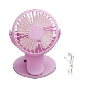 3 Speeds Rechargeable Mini Cooling Fan Clip On Desk Baby Stroller Portable USB