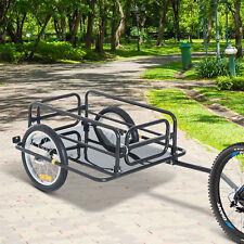 Aosom Steel Frame Bicycle Bike Cargo Trailer Luggage Cart Carrier 110lb Hauler