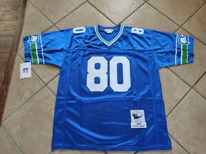 #80 Steve Largent Seattle Seahawks Throwback Jersey Size Large NWT