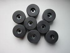 """8 X PIEDINI IN GOMMA ALTOPARLANTE 40mm x 25.4mm/1.57"""" x 1"""" qualità (British made)"""