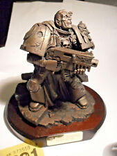 Warhammer 40k Forgeworld staff bronzed Space Marine large statue limited Y291