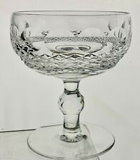 WATERFORD CLEAR CRYSTAL COLLEN SHORT STEM CHAMPAGNE/DESSERT GLASS SIGNED RARE