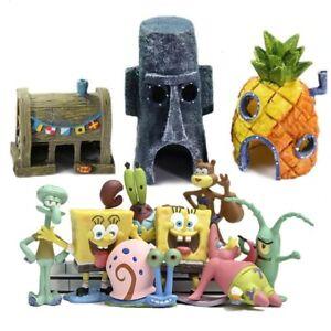 Fish Tank Decor Ideas Micro Landscape Spongebob Aquarium  Dodge House Resin Cave
