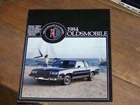 1984 Oldsmobile Sales Brochure Catalog - Cutlass Supreme Toronado Delta 88 98