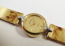 Lassale by Seiko Gold Tone Metal 1E50-0210 Gems Gold Sample Watch NON-WORKING