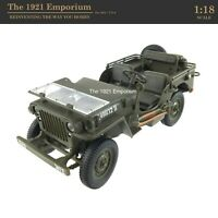 1:18 Diecast Metal Gate WWII US Army Airborne Willys Jeep - Ultimate Soldier
