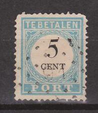 D2P6 Port 6 tanding D type 2 used CANCEL Rotterdam 91 NVPH Nederland due stamp