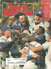 SPORTS ILLUSTRATED~NOV 2, 1992~ TORONTO BLUE JAYS WORLD SERIES CHAMPIONS~COMPLET