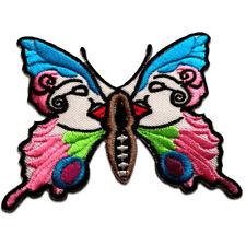 Bügelbild bunt Aufnäher Schmetterling Tier 5,9x5,2cm