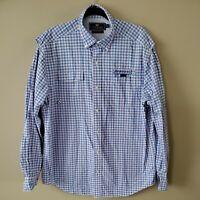 Vineyard Vines Button Down Harbor Vented LS Fishing Shirt Mens Size L