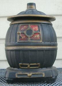 Vintage McCoy  Pot Belly Stove Cookie Jar  Black