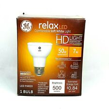 GE RELAX LED 50W/7W PAR20 SOFT WHITE DIMMABLE