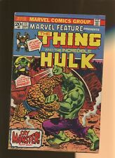 Marvel Feature 11 VG+ 4.5 * 1 Book Lot * Thing VS Hulk! Marvel,Wein,Starlin!